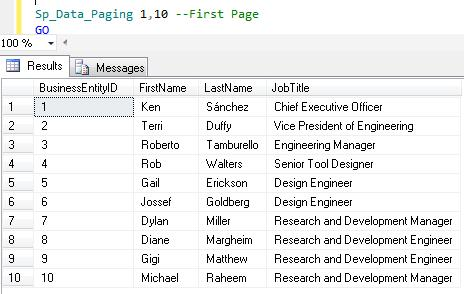SQL Paging in SQL Server 2012 using ORDER BY OFFSET and FETCH NEXT (4/6)