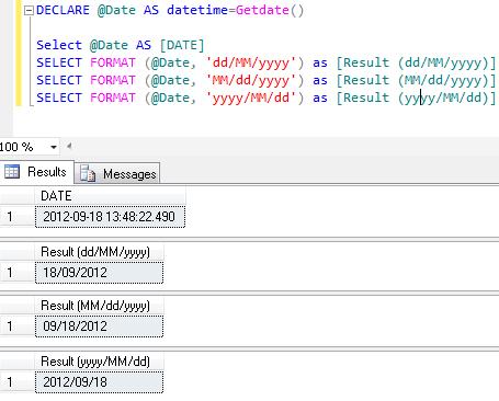 sql server 2012 – string function – format | sql server portal
