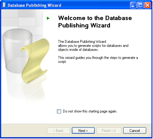 Generating Insert statements, data & schema using SQL Server