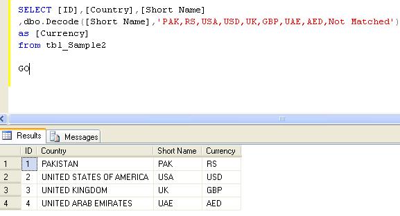 SQL SERVER – Using Decode in SQL Server   SQL Server Portal