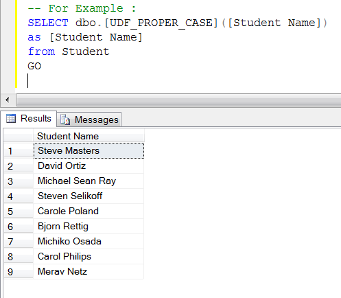 how to call user defined function in sql server