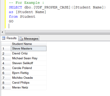 Function to Convert Text String to Title Case – Proper Case