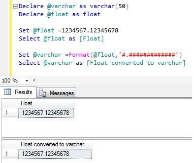 Varchar To Float In Sql Converter