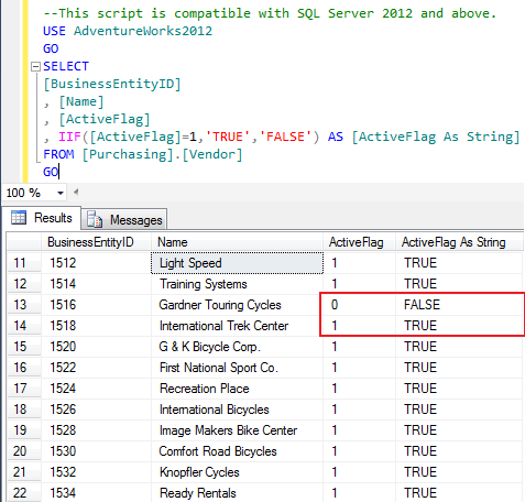SQL SERVER - How To Convert From Boolean(bit) to String (1/2)