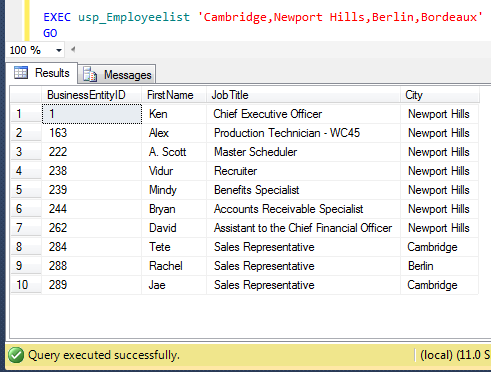 SQL SERVER - Passing multiple values through one parameter in a stored procedure (1/2)