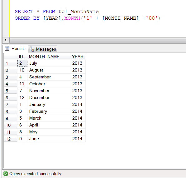 how to put in alphabetical order in sql