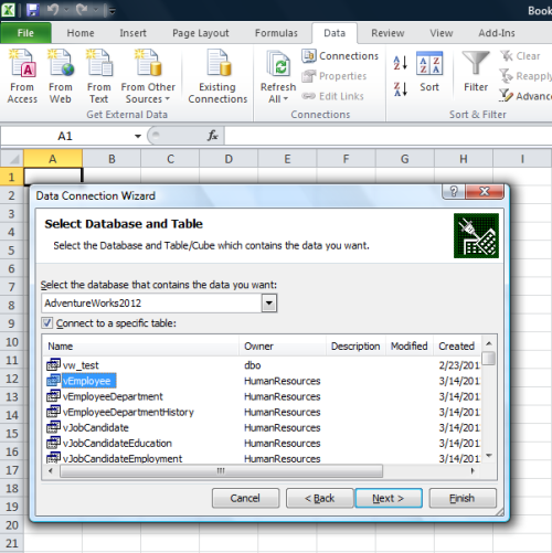 SQL excel connectivity1.3