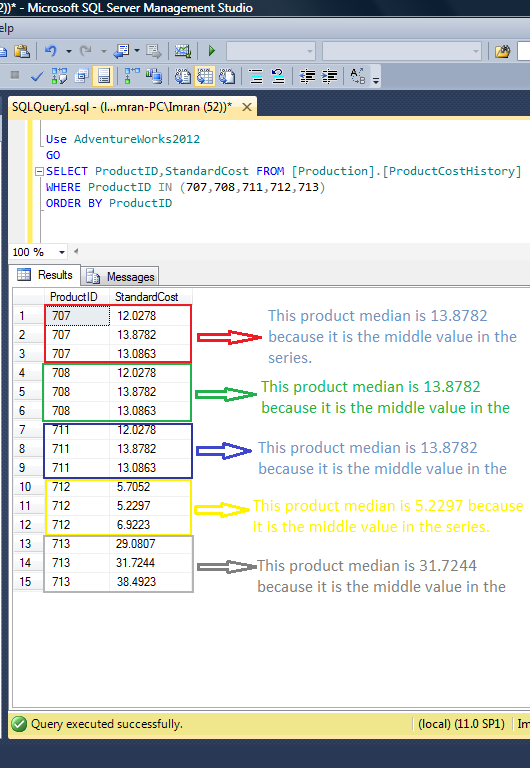 Sql server 2012 shortest way to calculate median sql server portal given below is the script to calculate the median in a shortest way ccuart Gallery