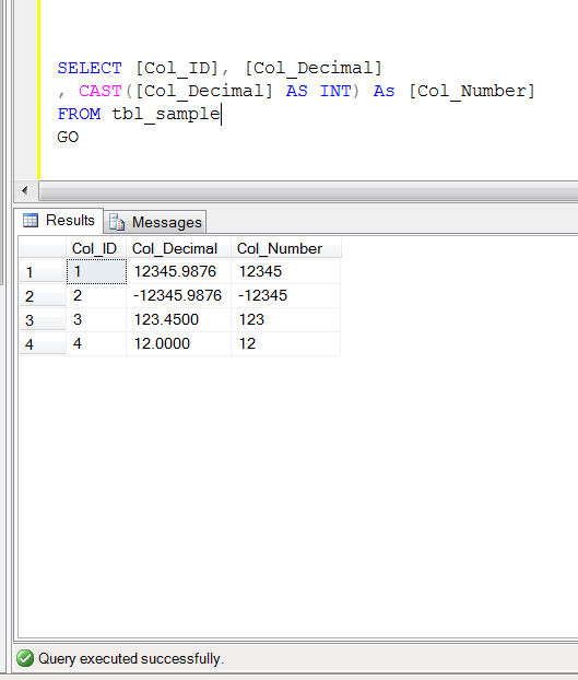SQL SERVER – How do I get only the numbers before the decimal? | SQL