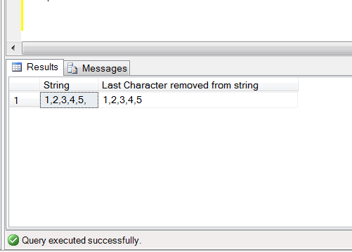 Sql Server Multiple Ways To Remove The Last Character In A String