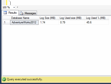 SQL Server log size.1.1