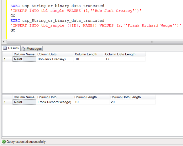 SQL SERVER – A quick solution to 'String or binary data would be