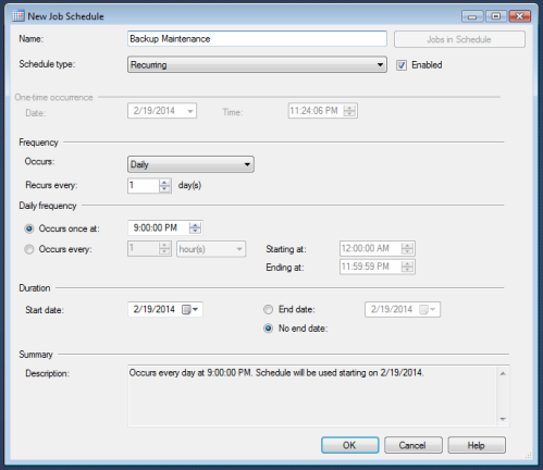 schedule autobackup.1.6