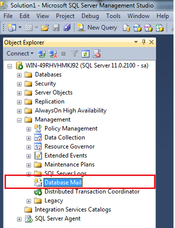 SQL SERVER – How to setup Database mail using FREE mail
