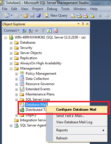 SQL SERVER - How to setup Database mail using FREE mail accounts (2/6)