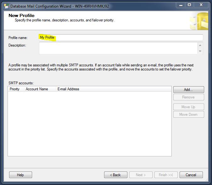 smtp   SQL Server Portal