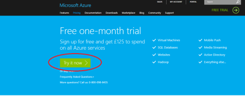 Free tial account of Azure.1.1