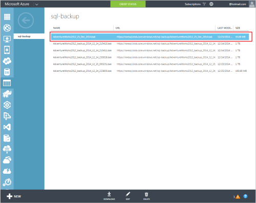 How to take backup to URL (Windows Azure Storage) - PowerShell.1.1
