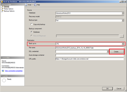 SQL Server Back to Azure using SSMS.1.3