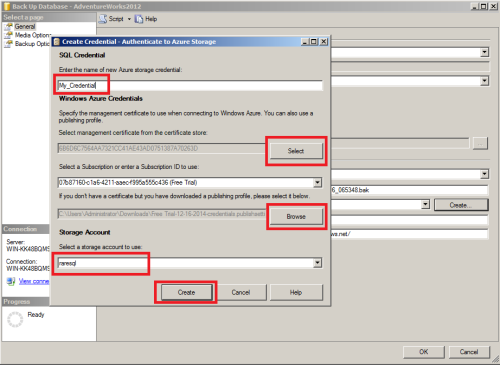 SQL Server Back to Azure using SSMS.1.4