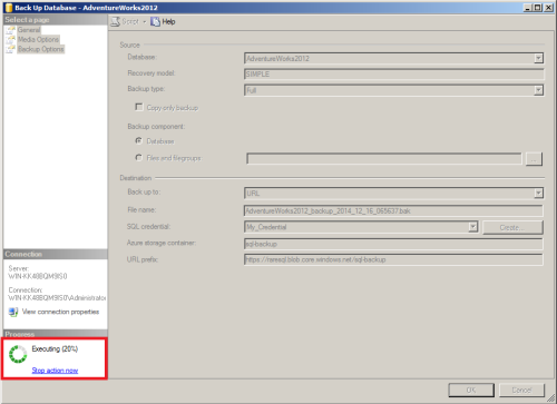 SQL Server Back to Azure using SSMS.1.6
