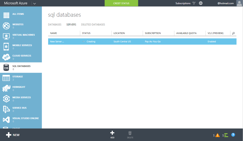 AZURE SQL SERVER - How to create server and database (4/6)