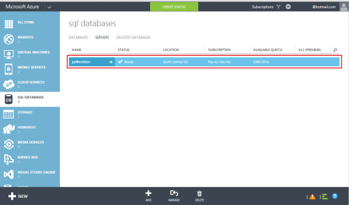 Azure Create SQL Server & Database.1.4