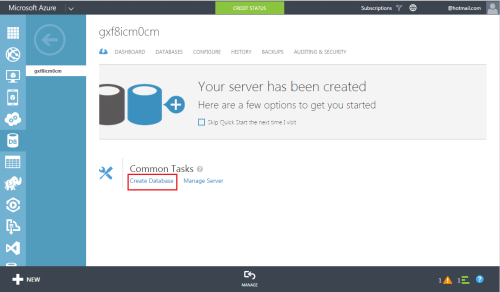 Azure Create SQL Server & Database.1.5