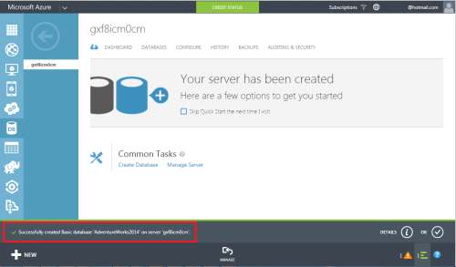 Azure Create SQL Server & Database 1.7