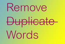 Remove-Duplicate-Words
