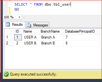 SQL SERVER 2016 - Row Level Security (RLS) (5/6)